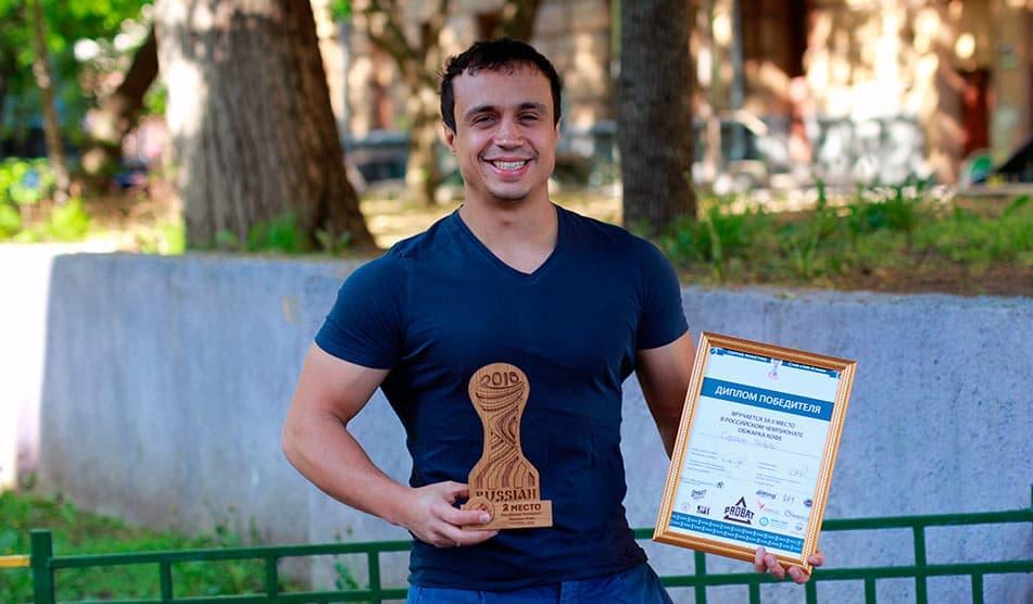 Сергей Табера - призер чемпионата России среди обжарщиков кофе 2016